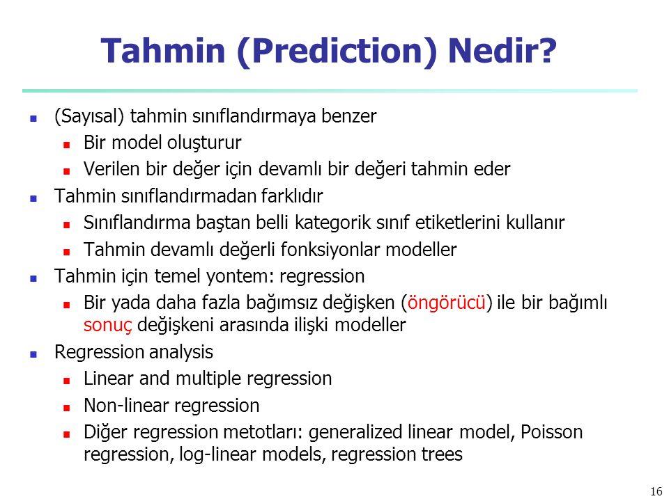 Tahmin (Prediction) Nedir