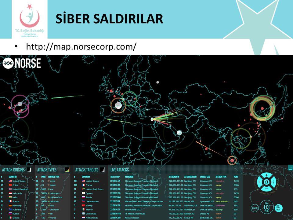 SİBER SALDIRILAR http://map.norsecorp.com/