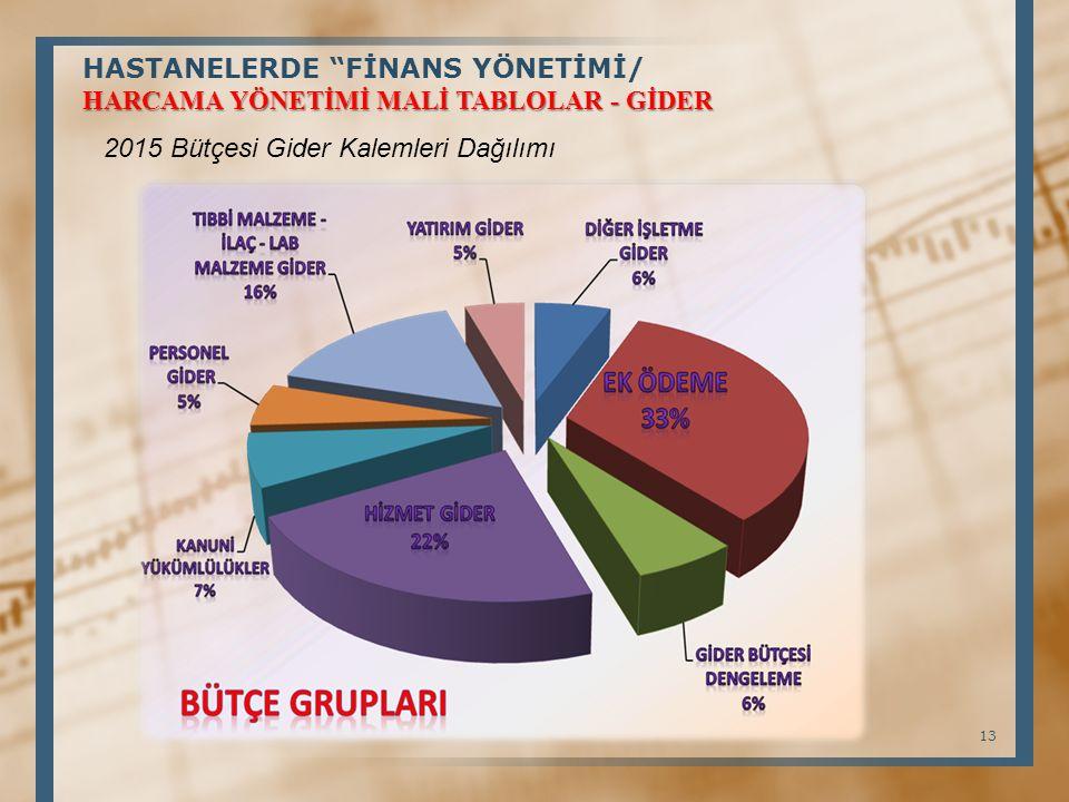 HASTANELERDE FİNANS YÖNETİMİ/ HARCAMA YÖNETİMİ MALİ TABLOLAR - GİDER