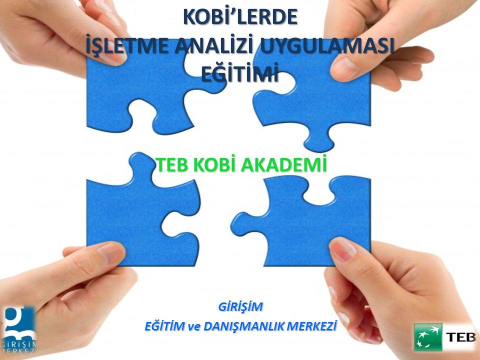 KOBİ'LERDE İŞLETME ANALİZİ UYGULAMASI EĞİTİMİ
