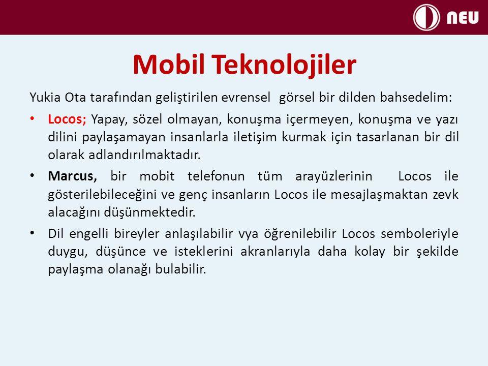 Mobil Teknolojiler Yukia Ota tarafından geliştirilen evrensel görsel bir dilden bahsedelim: