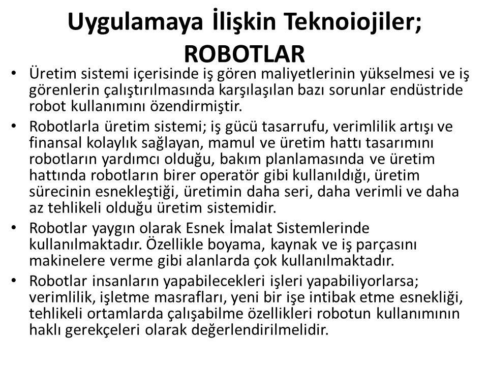 Uygulamaya İlişkin Teknoiojiler; ROBOTLAR