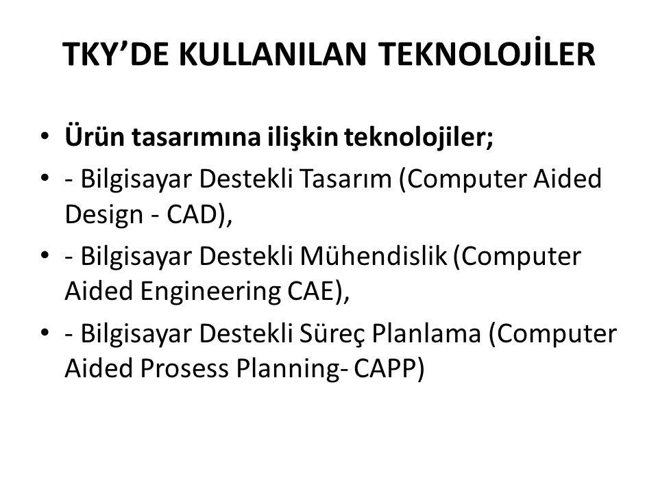 TKY'DE KULLANILAN TEKNOLOJİLER