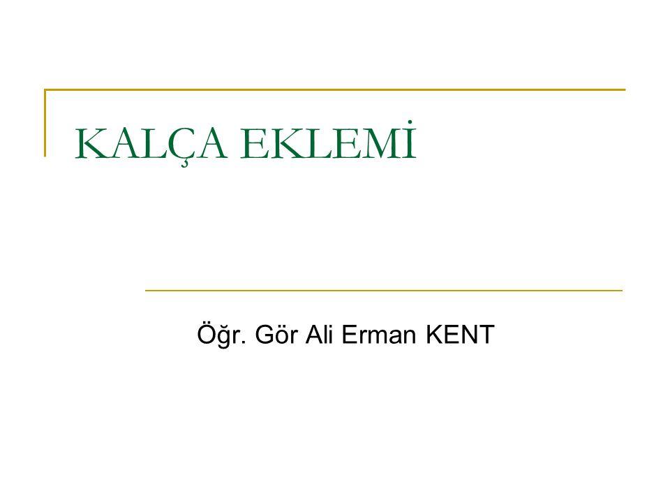 KALÇA EKLEMİ Öğr. Gör Ali Erman KENT