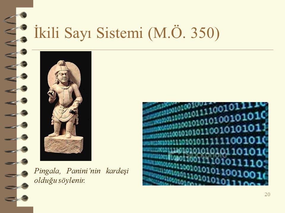 İkili Sayı Sistemi (M.Ö. 350)