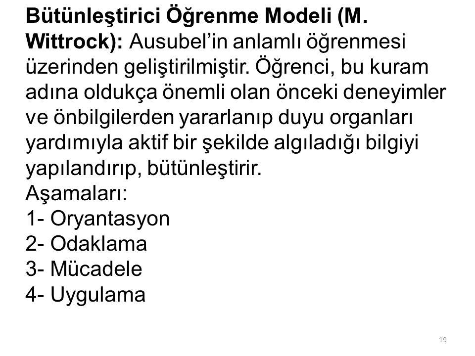 Bütünleştirici Öğrenme Modeli (M