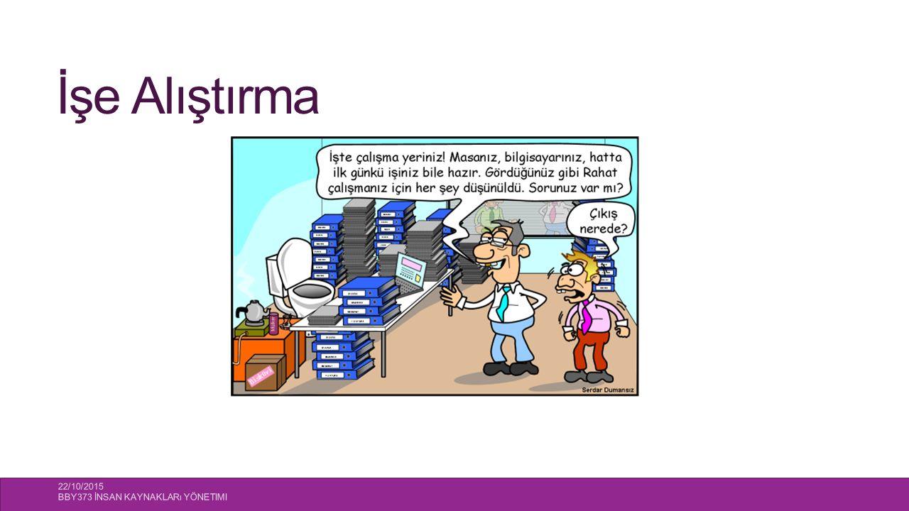 İşe Alıştırma 22/10/2015 BBY373 İnsan Kaynakları Yönetimi