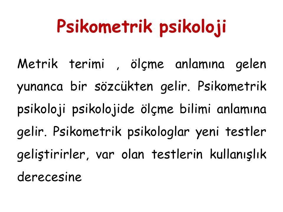 Psikometrik psikoloji