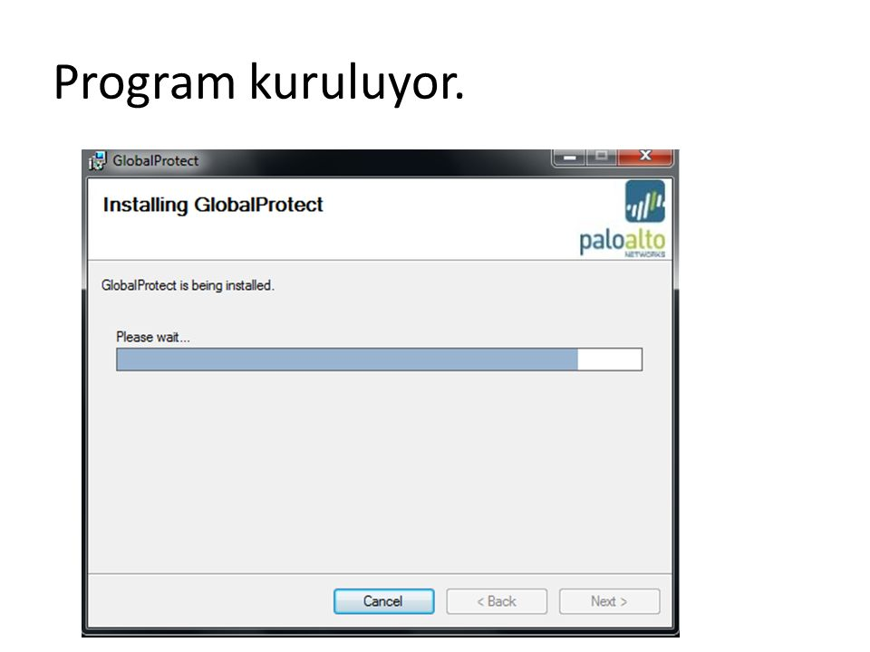 Program kuruluyor.