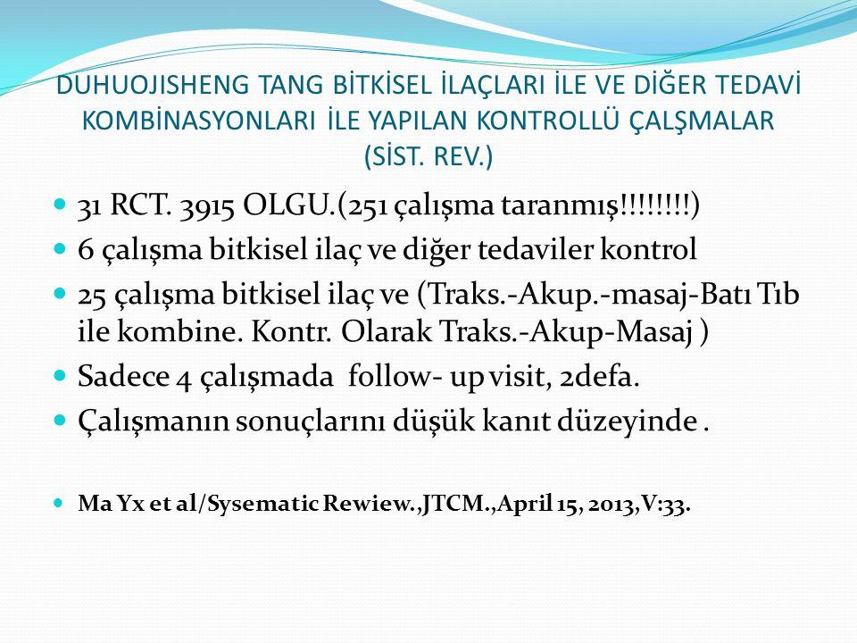 31 RCT. 3915 OLGU.(251 çalışma taranmış!!!!!!!!)
