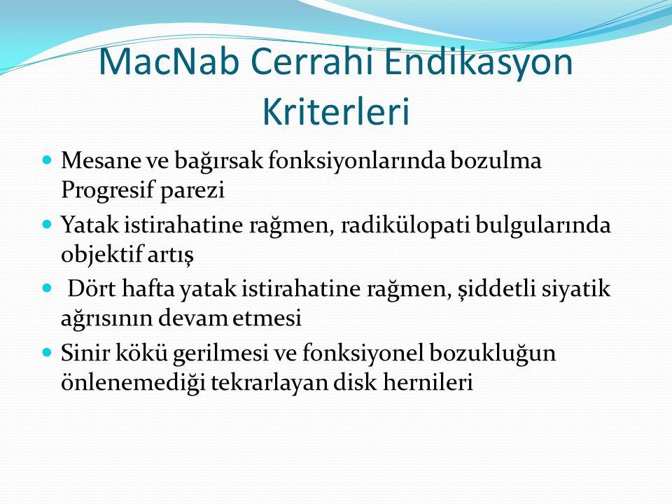 MacNab Cerrahi Endikasyon Kriterleri