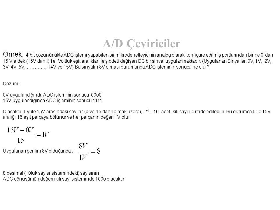 A/D Çeviriciler