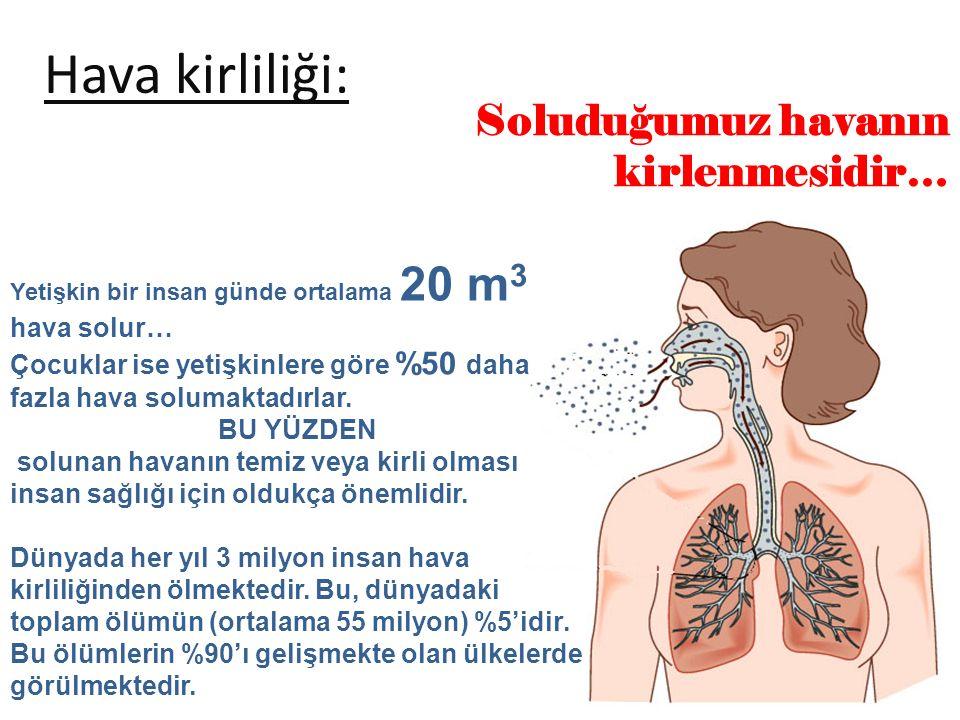 Hava kirliliği: Soluduğumuz havanın kirlenmesidir… hava solur…