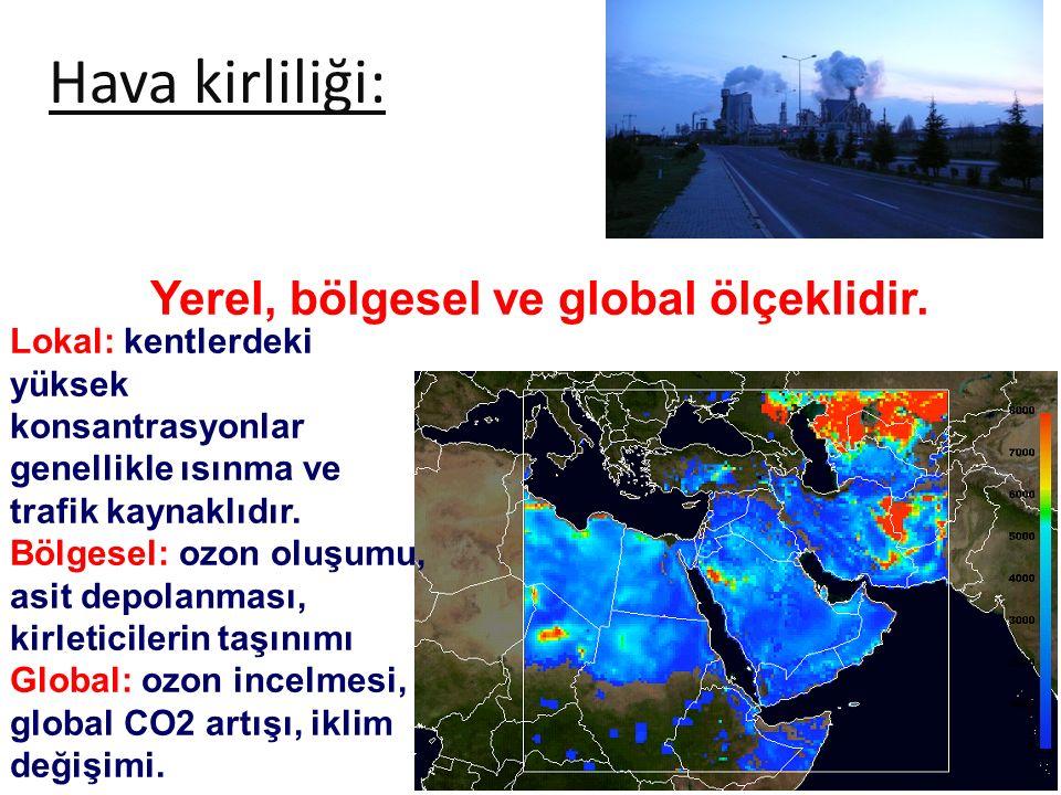 Hava kirliliği: Yerel, bölgesel ve global ölçeklidir.
