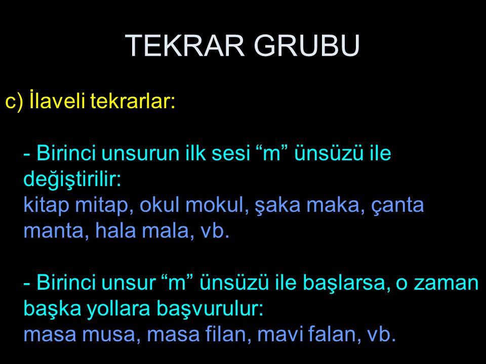 TEKRAR GRUBU