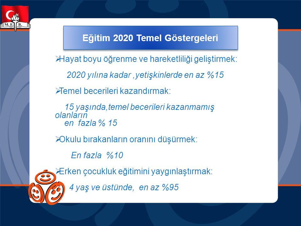 Eğitim 2020 Temel Göstergeleri Eğitim 2020 Temel Göstergeleri