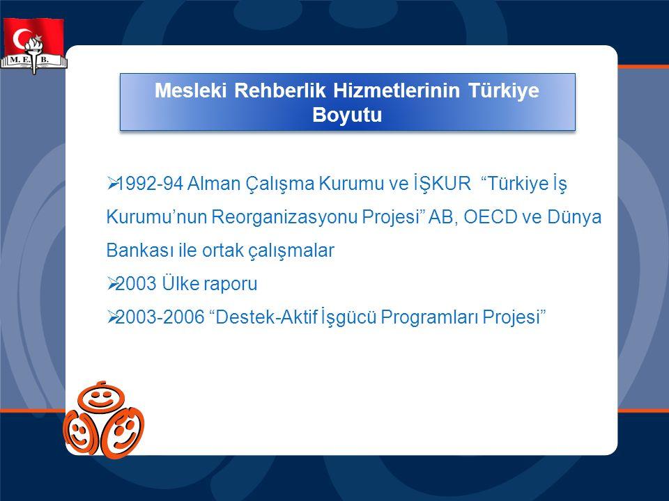 Mesleki Rehberlik Hizmetlerinin Türkiye Boyutu
