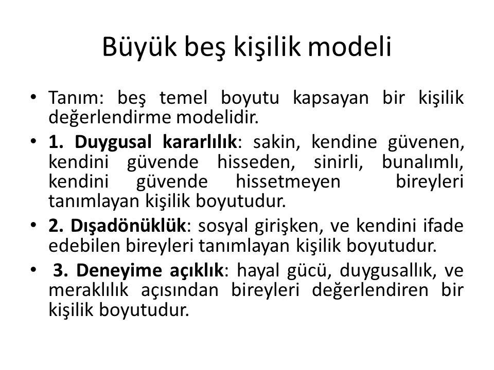 Büyük beş kişilik modeli