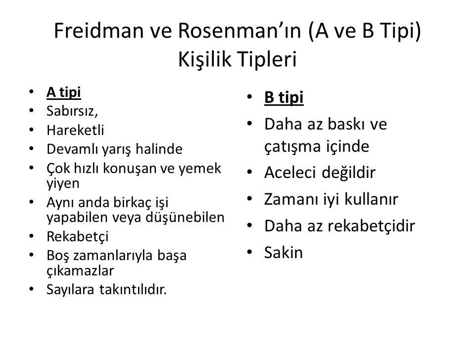 Freidman ve Rosenman'ın (A ve B Tipi) Kişilik Tipleri