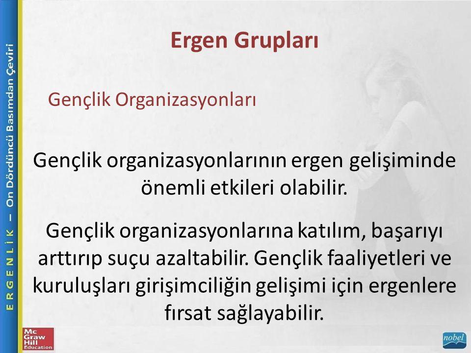 Ergen Grupları Gençlik Organizasyonları. Gençlik organizasyonlarının ergen gelişiminde önemli etkileri olabilir.