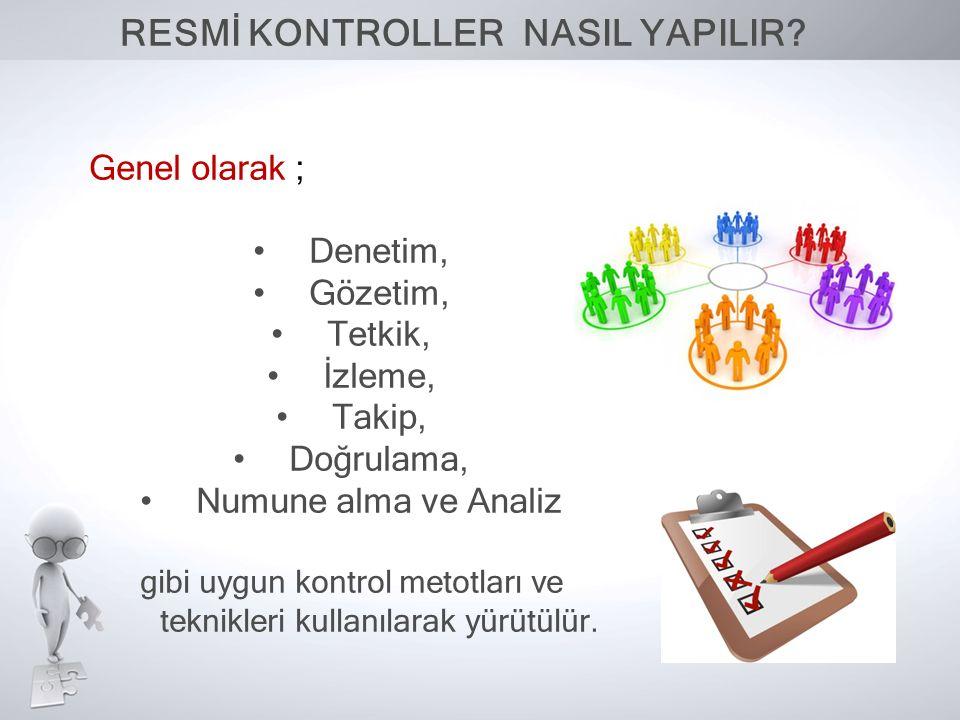 RESMİ KONTROLLER NASIL YAPILIR