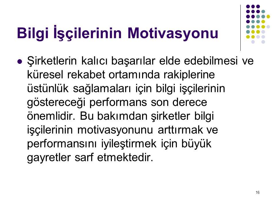 Bilgi İşçilerinin Motivasyonu