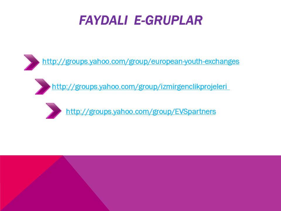 FAYDALI E-GRUPLAR
