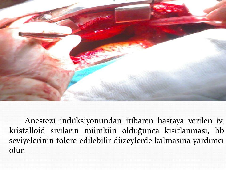 Anestezi indüksiyonundan itibaren hastaya verilen iv