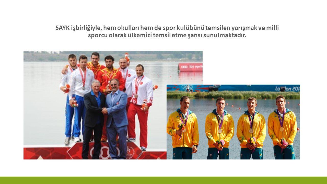 SAYK işbirliğiyle, hem okulları hem de spor kulübünü temsilen yarışmak ve milli sporcu olarak ülkemizi temsil etme şansı sunulmaktadır.