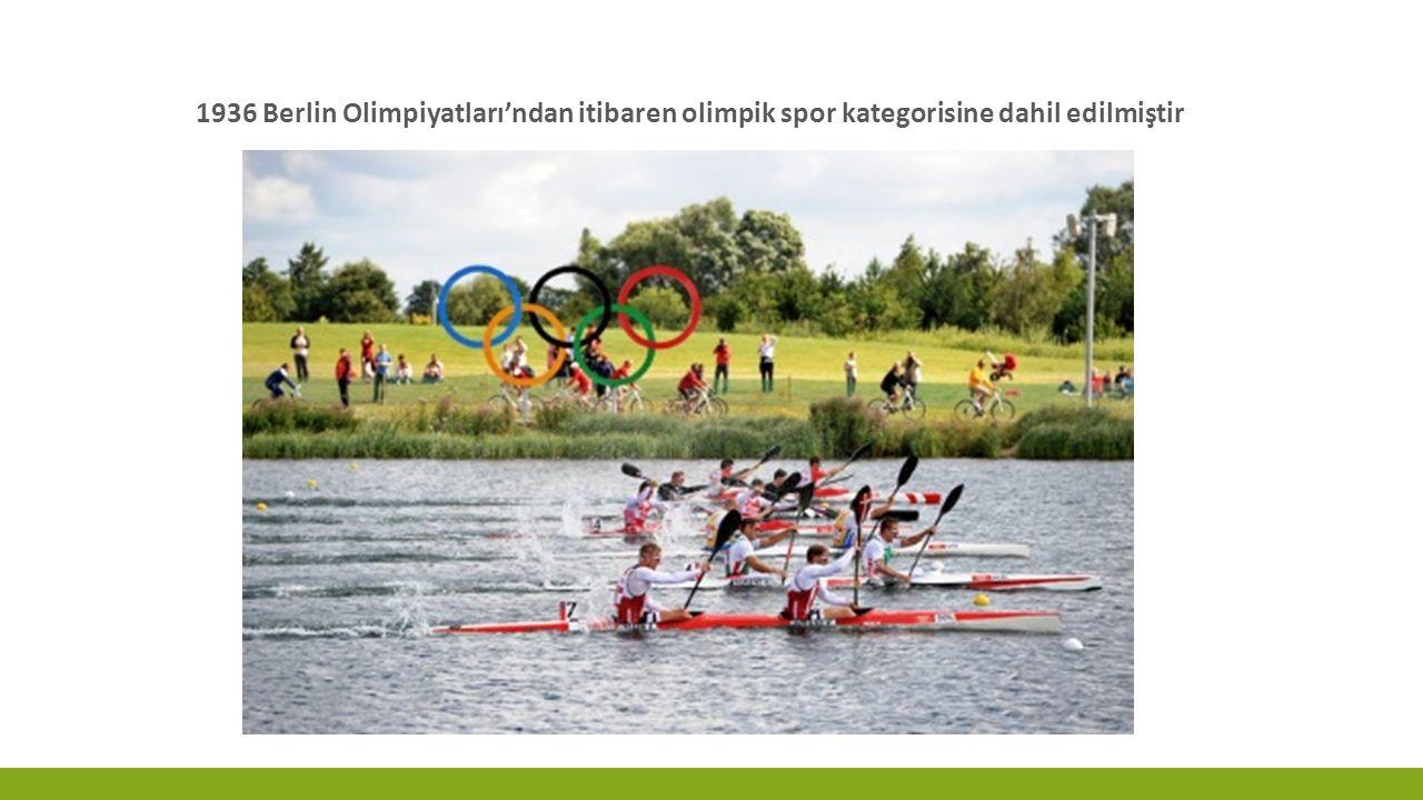 1936 Berlin Olimpiyatları'ndan itibaren olimpik spor kategorisine dahil edilmiştir