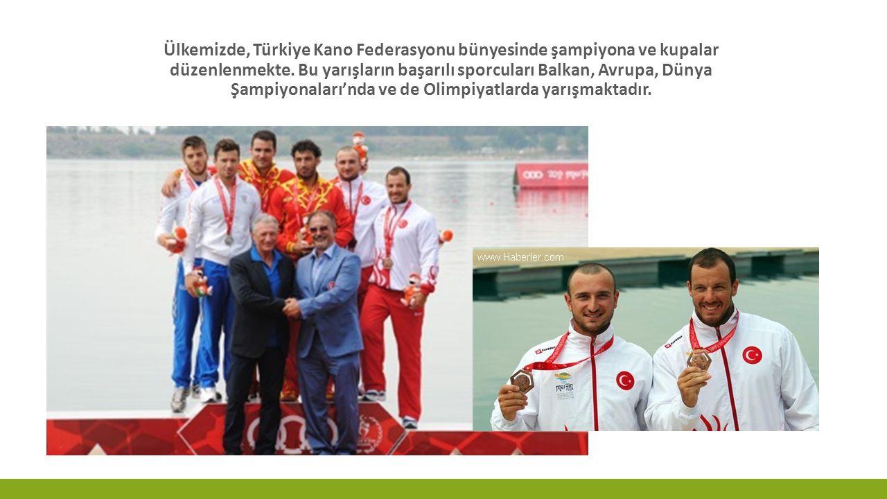 Ülkemizde, Türkiye Kano Federasyonu bünyesinde şampiyona ve kupalar düzenlenmekte.