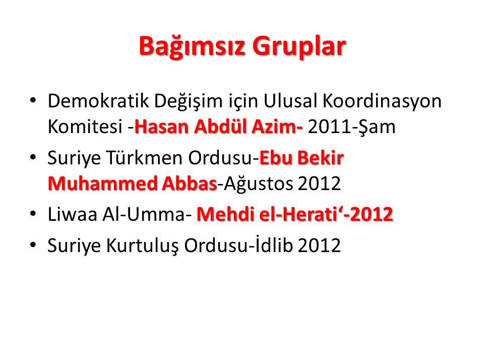 Bağımsız Gruplar Demokratik Değişim için Ulusal Koordinasyon Komitesi -Hasan Abdül Azim- 2011-Şam.