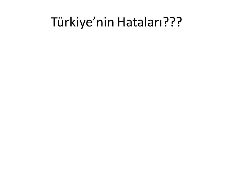 Türkiye'nin Hataları