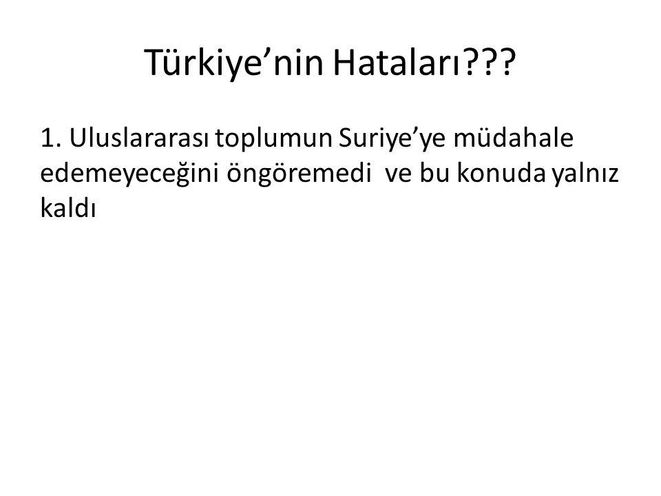 Türkiye'nin Hataları . 1.