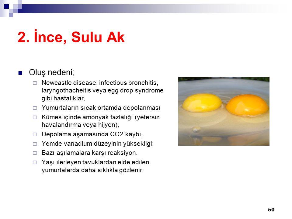2. İnce, Sulu Ak Oluş nedeni;