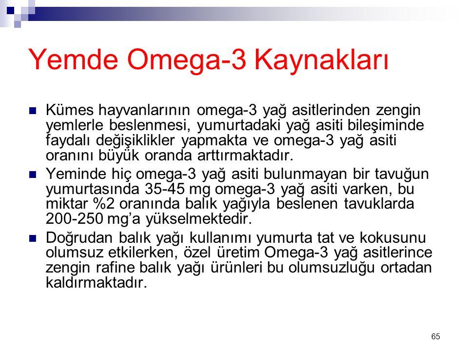 Yemde Omega-3 Kaynakları