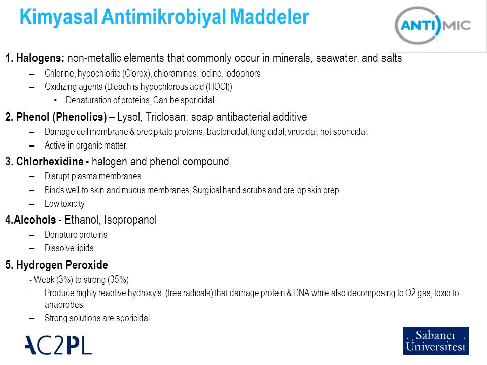 Kimyasal Antimikrobiyal Maddeler