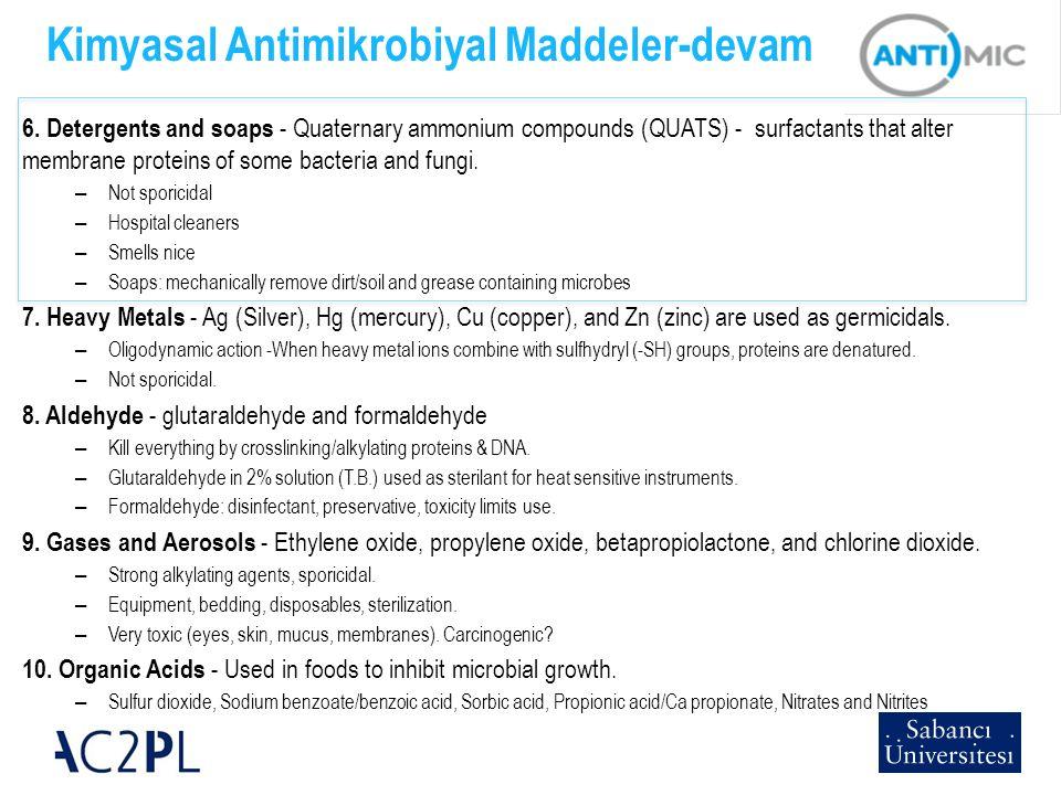 Kimyasal Antimikrobiyal Maddeler-devam