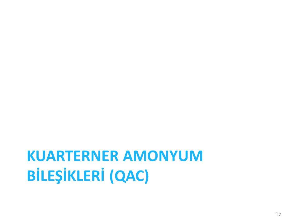 Kuarterner amonyum BİLEŞİKLERİ (QAC)