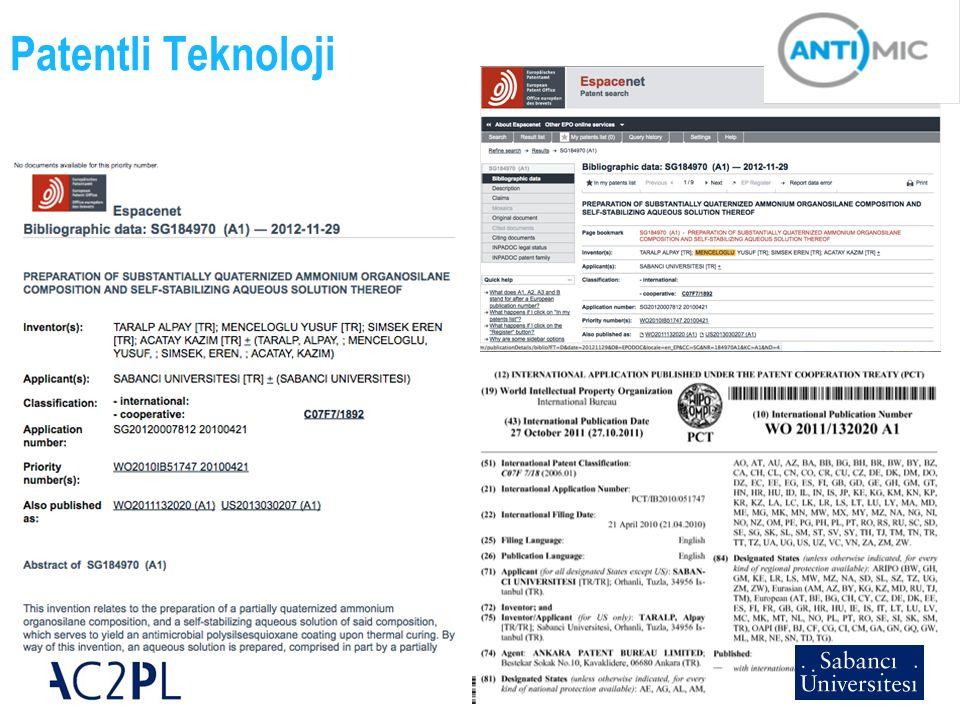 Patentli Teknoloji