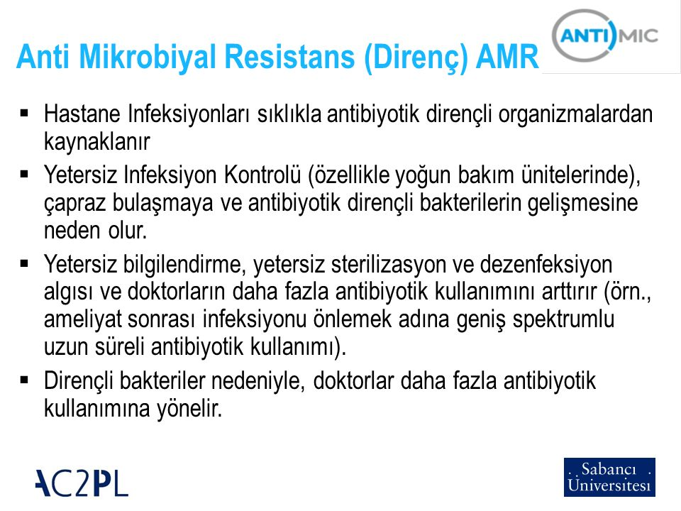 Anti Mikrobiyal Resistans (Direnç) AMR