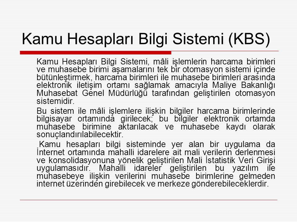 Kamu Hesapları Bilgi Sistemi (KBS)