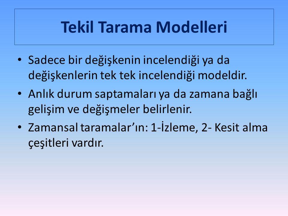 Tekil Tarama Modelleri
