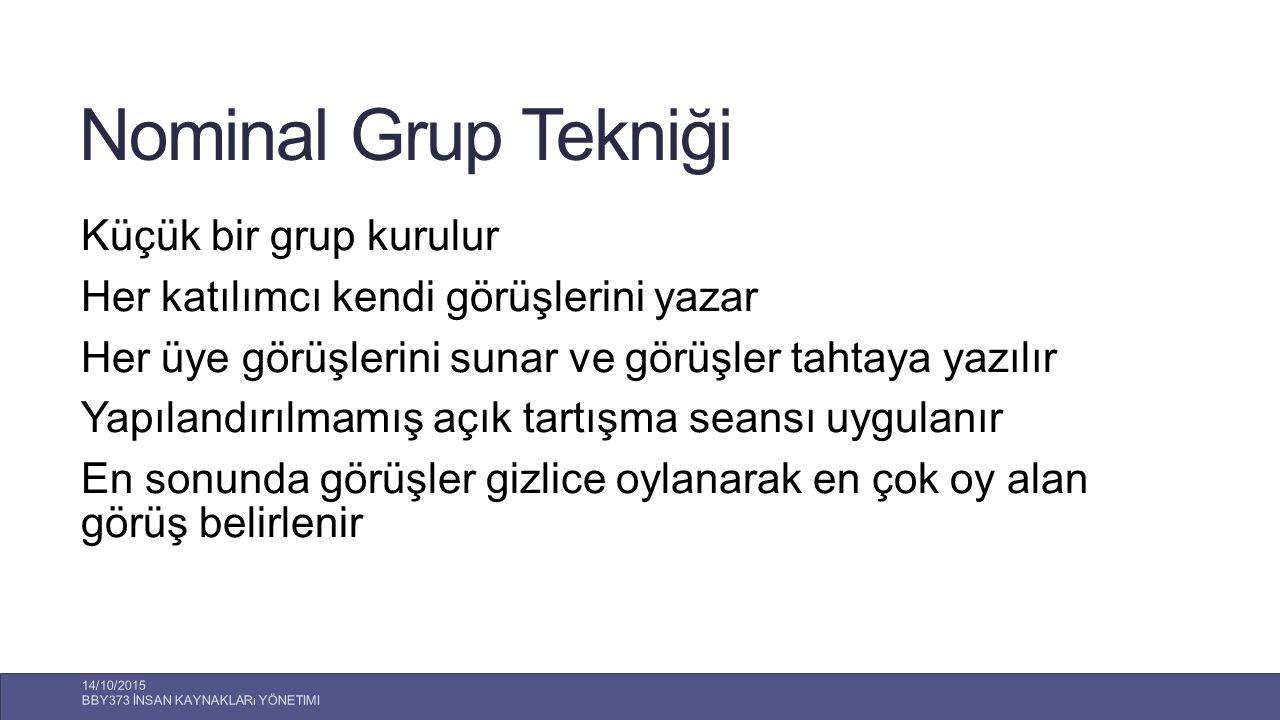 Nominal Grup Tekniği