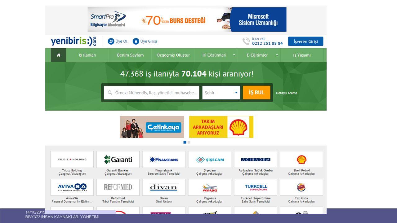 14/10/2015 BBY373 İnsan Kaynakları Yönetimi