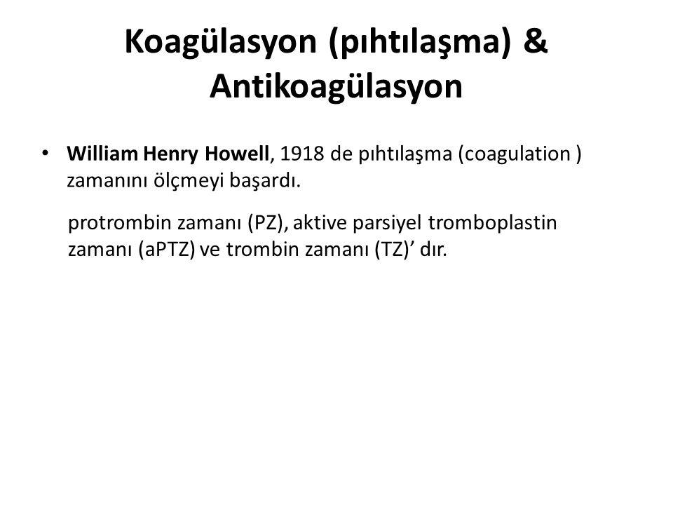 Koagülasyon (pıhtılaşma) & Antikoagülasyon
