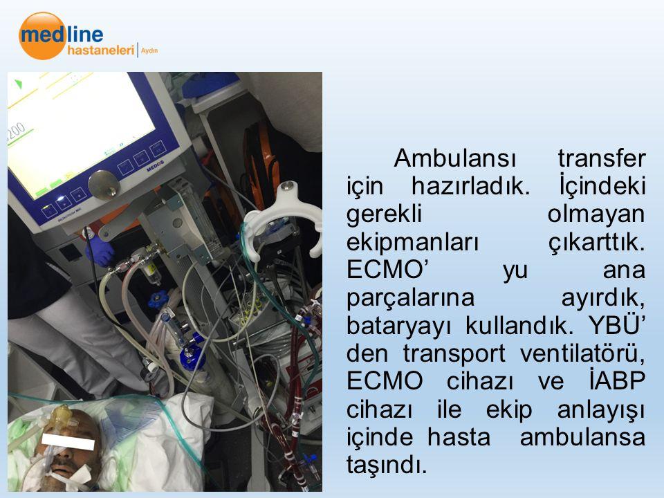 Ambulansı transfer için hazırladık