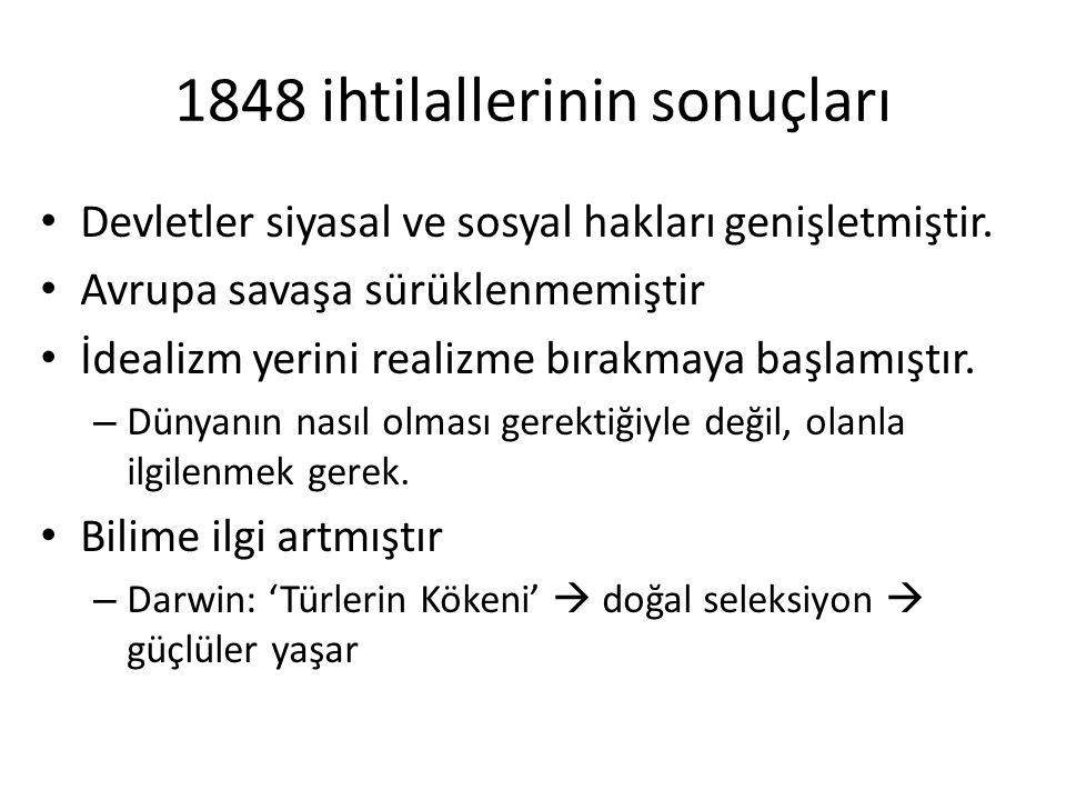 1848 ihtilallerinin sonuçları