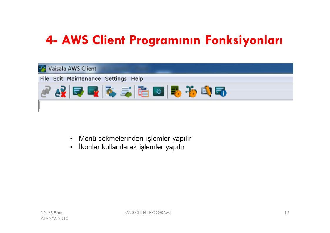 4- AWS Client Programının Fonksiyonları