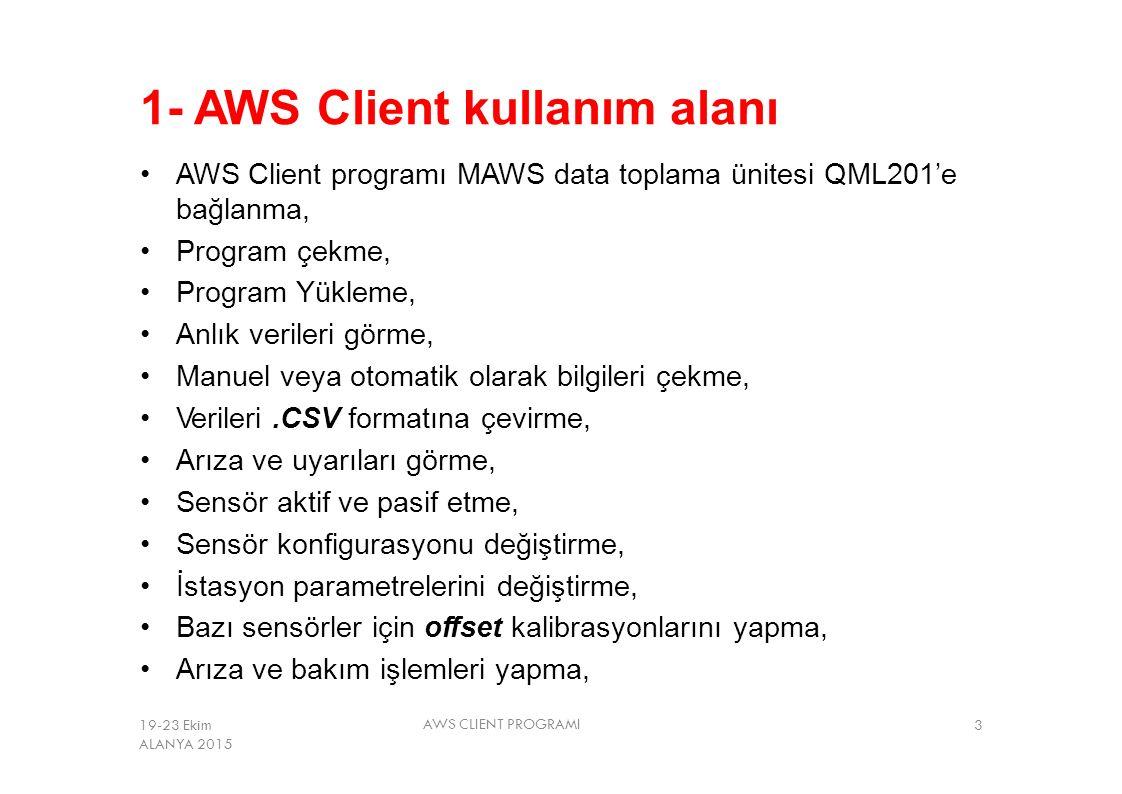 1- AWS Client kullanım alanı